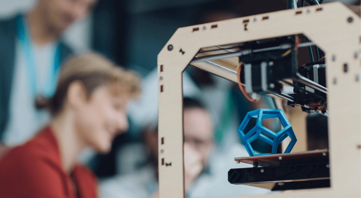 3D printer with object