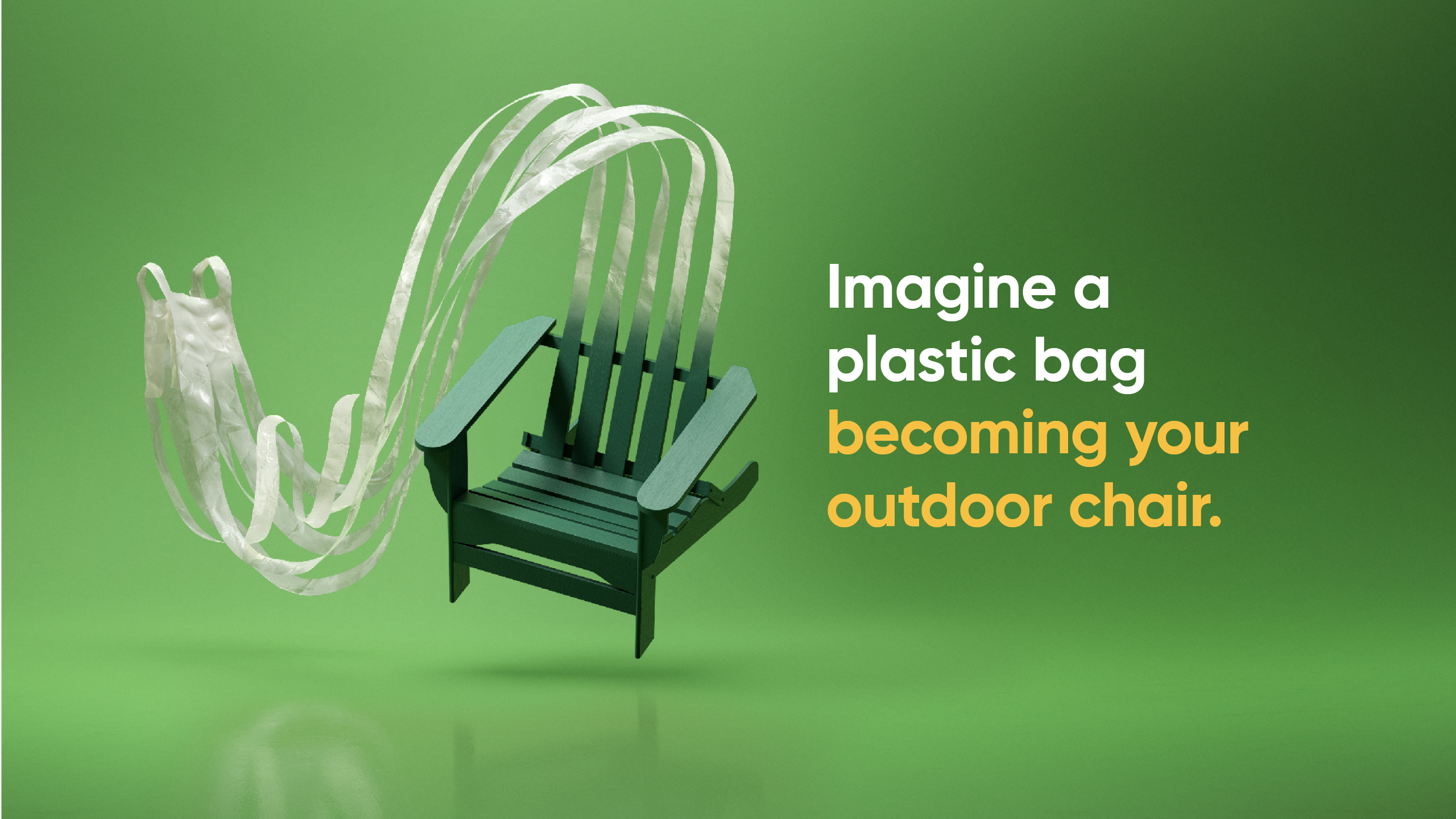 imagine a plastic bag becoming your outdoor chair.
