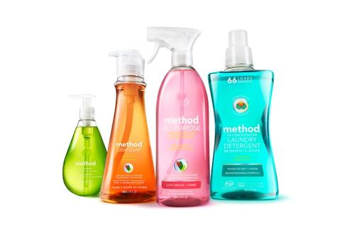 Recycled plastic Method cleaning product bottles