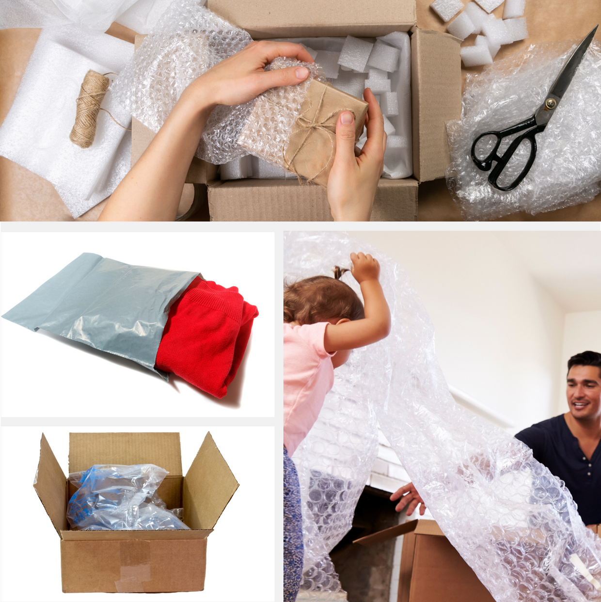 plastic shipping collage